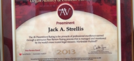 Jack Strellis Receives the Highest Rating from Martindale-Hubbell® Peer Review Ratings™ – AV Preeminent